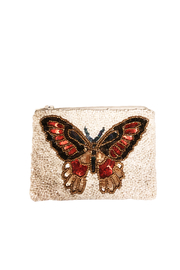 Tiana Butterfly Beaded Coin Purse - Product Mini Image