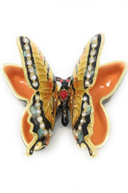 Kubla Craft Butterfly Bejeweled Enamel Box - Side cropped