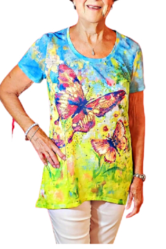 Onque Casuals Butterfly Bling Tee Tunic - Product List Image