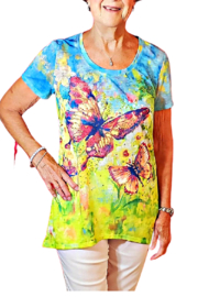 Onque Casuals Butterfly Bling Tee Tunic - Product Mini Image