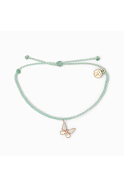 Pura Vida BUTTERFLY BRACELET-ROSE GOLD/SEAFOAM - Product Mini Image