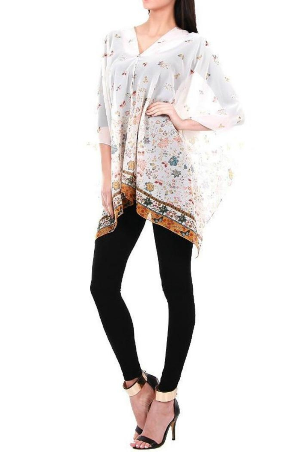 Life Is Beautiful Butterfly Coverup/poncho - Front Full Image