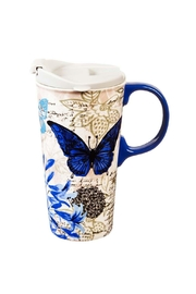 Evergreen Enterprises Butterfly/floral Travel Mug - Product Mini Image
