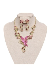 Nadya's Closet Butterfly & Flowers Necklace-Set - Product Mini Image