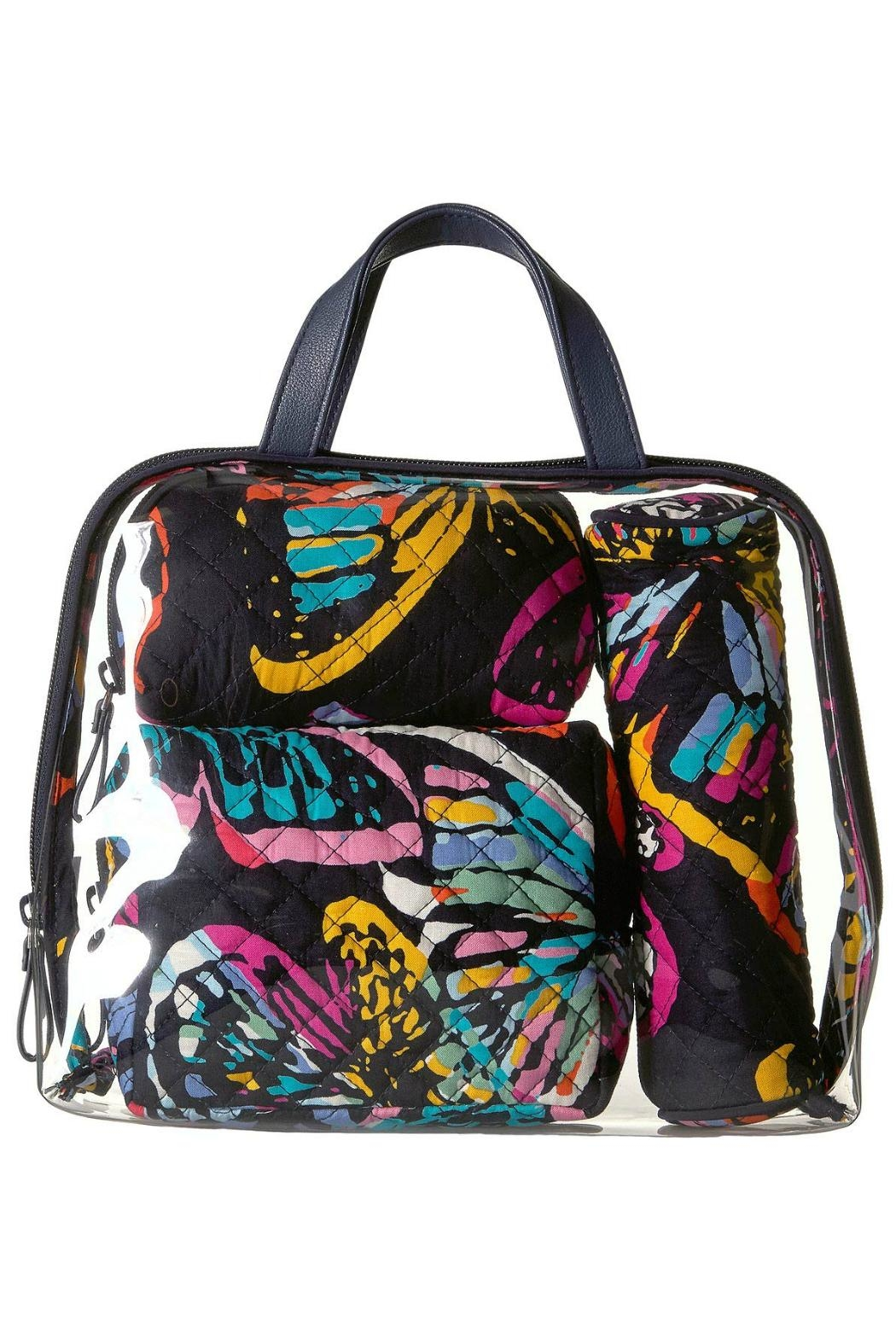 Vera Bradley Butterfly Flutter 4pc-Cosmetic - Side Cropped Image