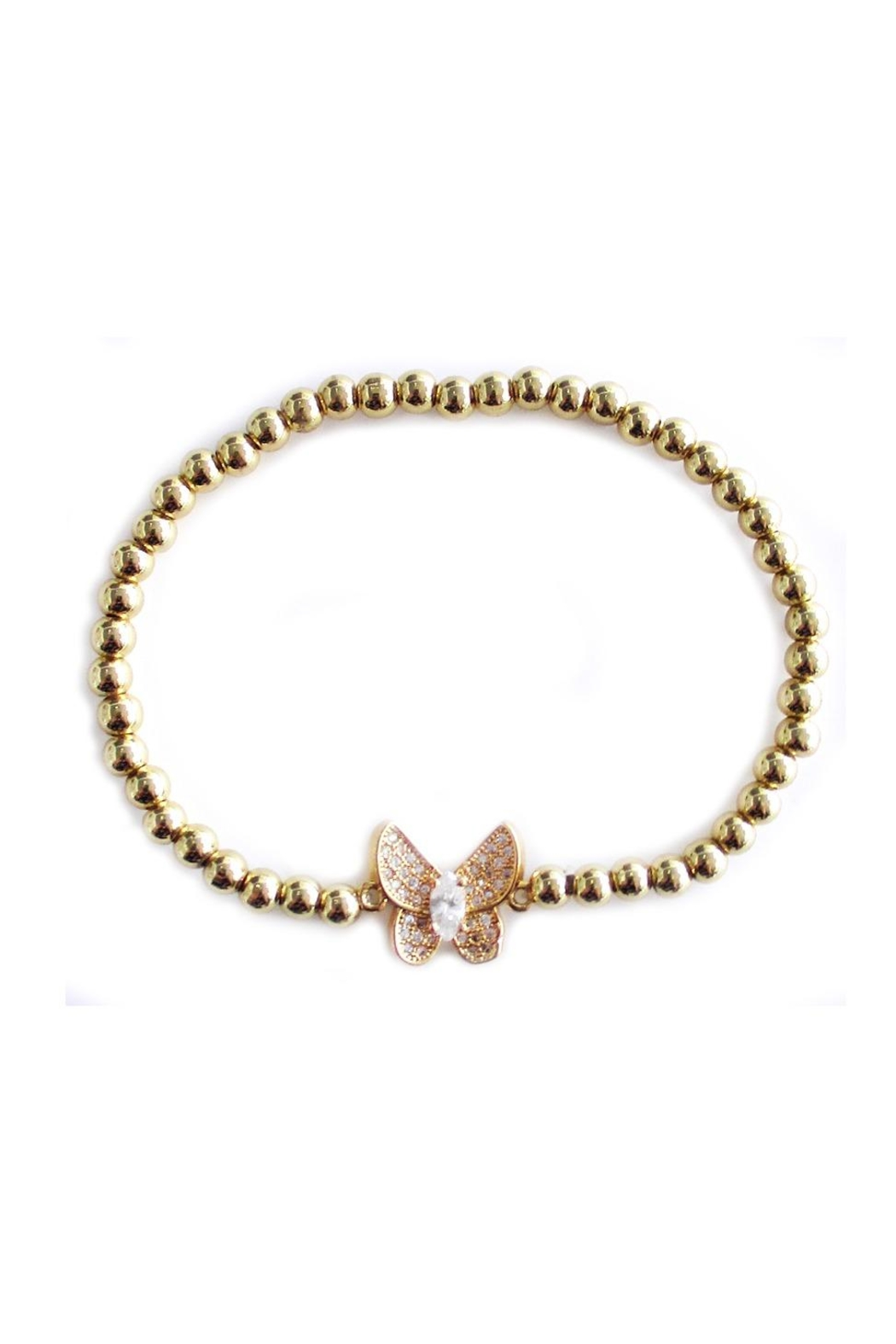 Malia Jewelry Butterfly Golden Bracelet - Main Image