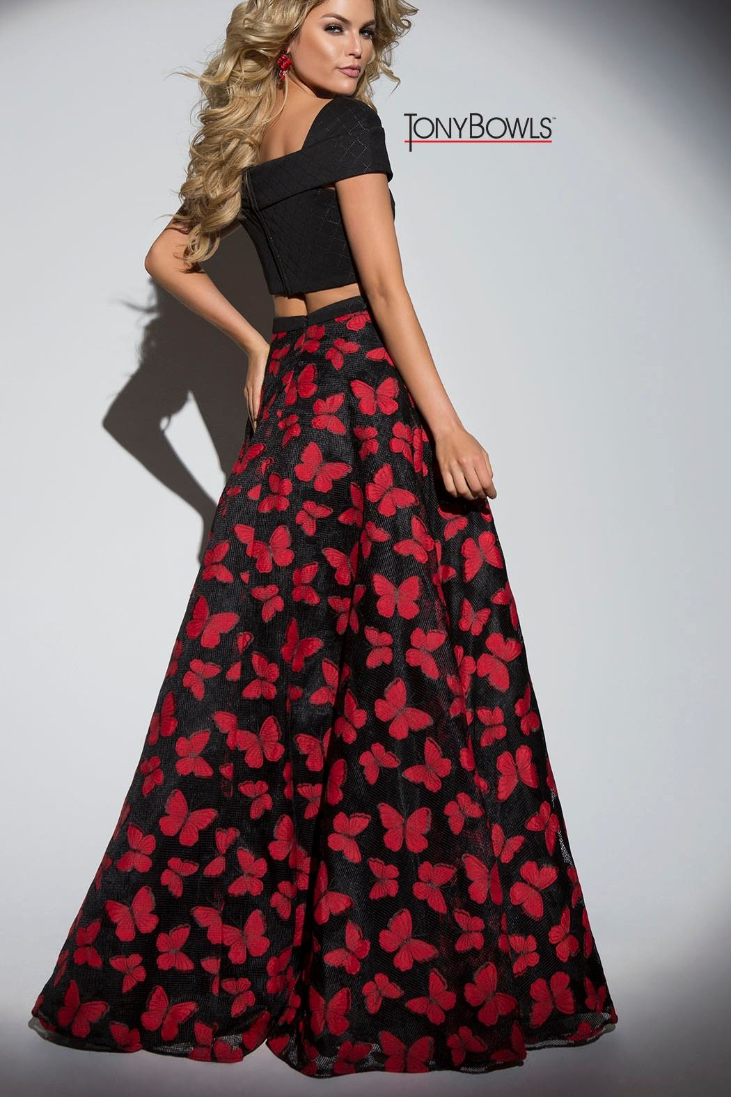 Tony Bowls Butterfly Gown - Front Full Image