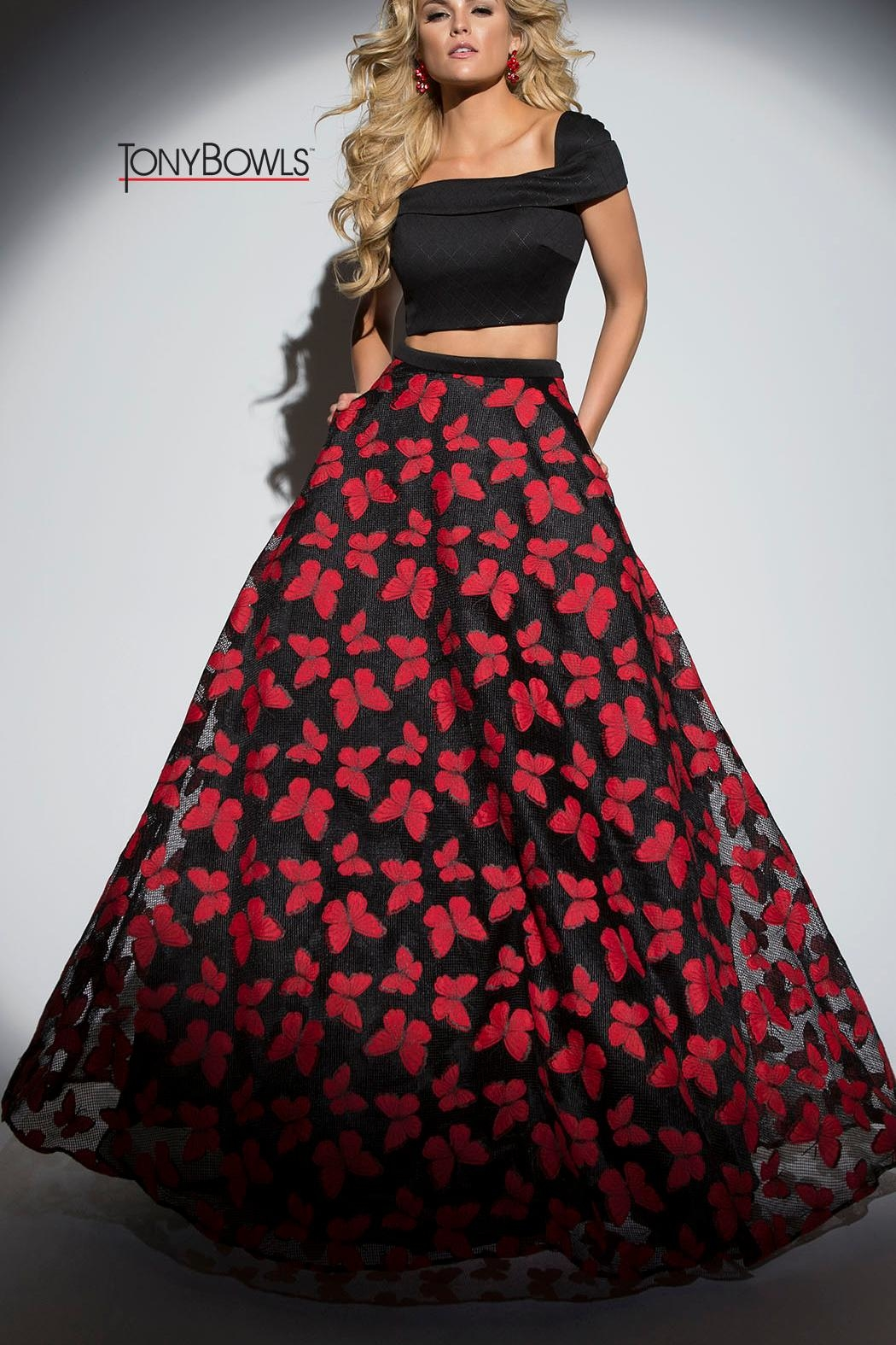 Tony Bowls Butterfly Gown - Main Image