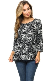 Cubism Butterfly Keyhole Top - Product Mini Image
