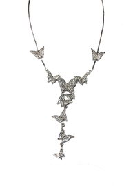 Lets Accessorize Butterfly Lariat - Front cropped