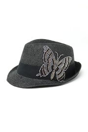 Nadya's Closet Butterfly Patch Fedora - Front cropped