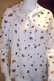 Vipavadee Butterfly Print Blouse - Product Mini Image