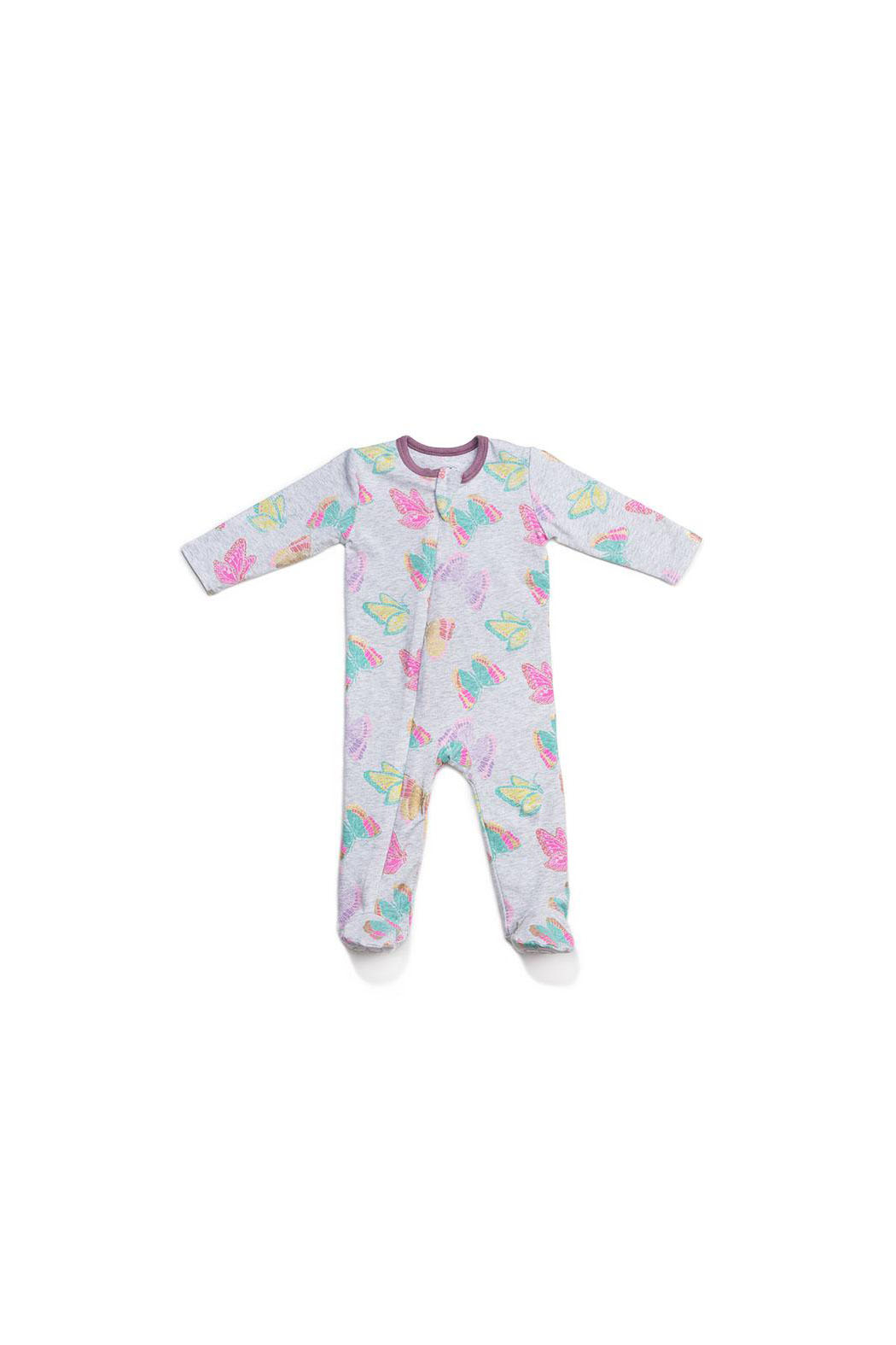 Egg  by Susan Lazar Butterfly Print Classic Zipper Footie - Main Image