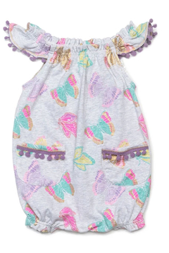 Egg  by Susan Lazar Butterfly Print Kiera Romper - Alternate List Image