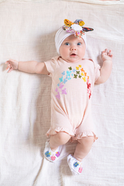 Red Egg & Ginger Butterfly Rainbow Romper - Product Mini Image