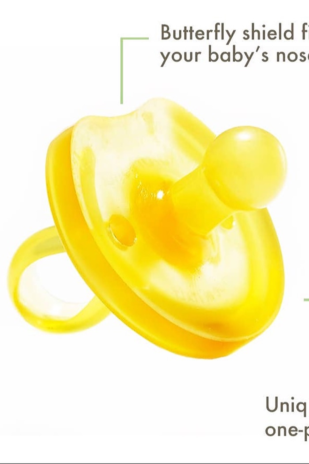 Nutrsutten Butterfly Rounded Pacifier - Front Full Image