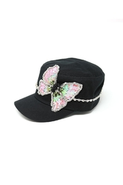 Nadya's Closet Butterfly Sequins Rhinestone-Cap - Front full body