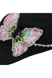 Nadya's Closet Butterfly Sequins Rhinestone-Cap - Back cropped