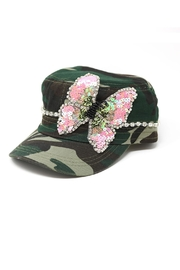 Nadya's Closet Butterfly Sequins Rhinestone-Cap - Product Mini Image
