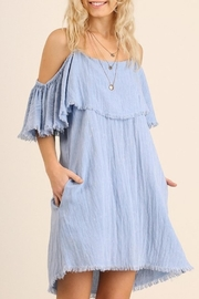 Umgee USA Butterfly Sleeve Dress - Front cropped