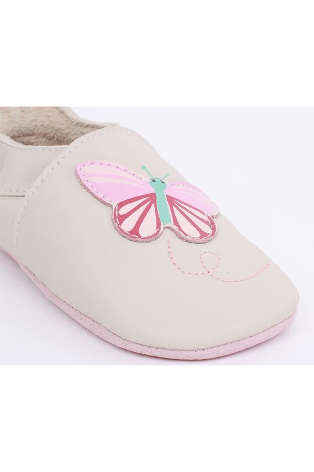 Bobux Butterfly Soft-Sole Slippers - Front Full Image