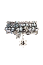 Riah Fashion Butterfly-Stackable Stretch Bracelet - Product Mini Image