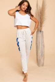 Blue Buttercup Butterfly Sweatpants - Front full body