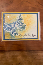 tesoro  Butterfly Thinking Of You Card - Product Mini Image