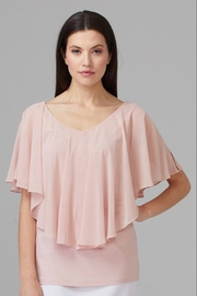 Joseph Ribkoff Butterfly top with chiffon. - Product Mini Image