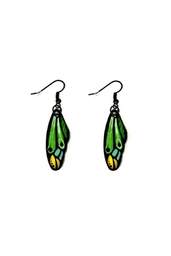 Shoptiques Product: Butterfly Wing Earrings