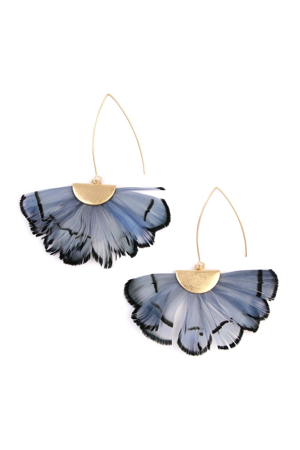 Riah Fashion Butterfly-Wings Threader Earrings - Main Image