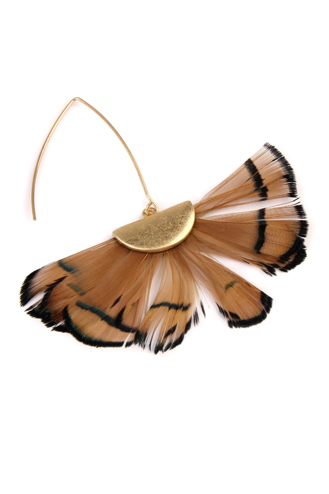 Riah Fashion Butterfly-Wings Threader Earrings - Front Full Image