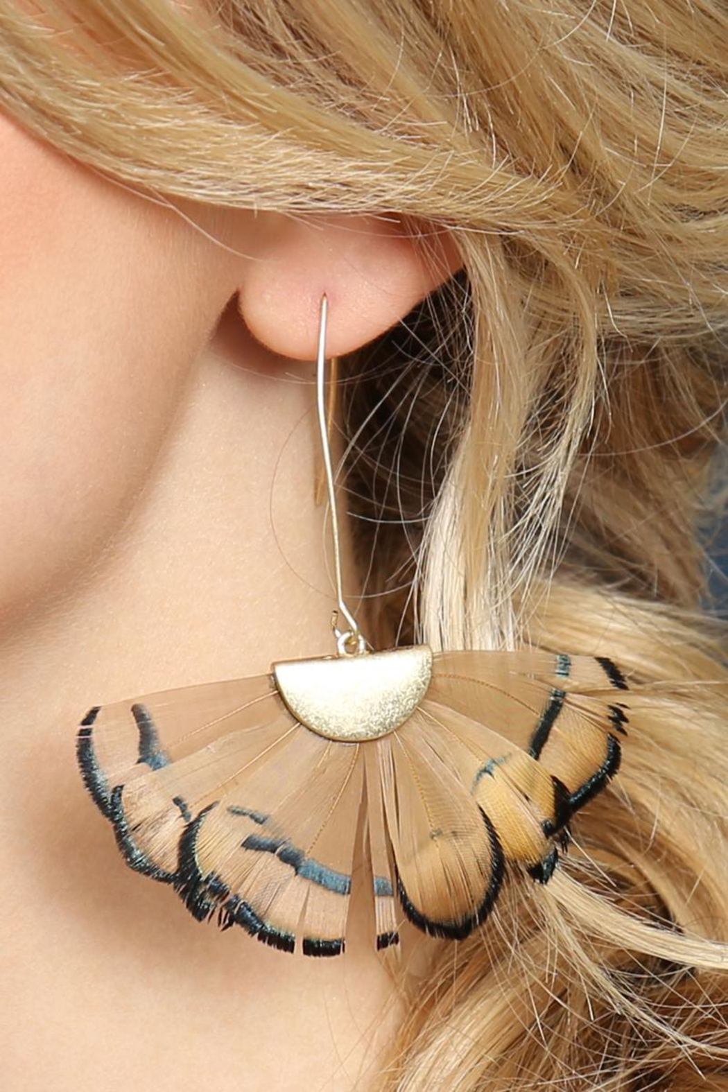Riah Fashion Butterfly-Wings Threader Earrings - Back Cropped Image