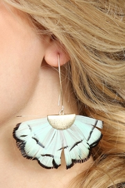 Riah Fashion Butterfly-Wings Threader Earrings - Other