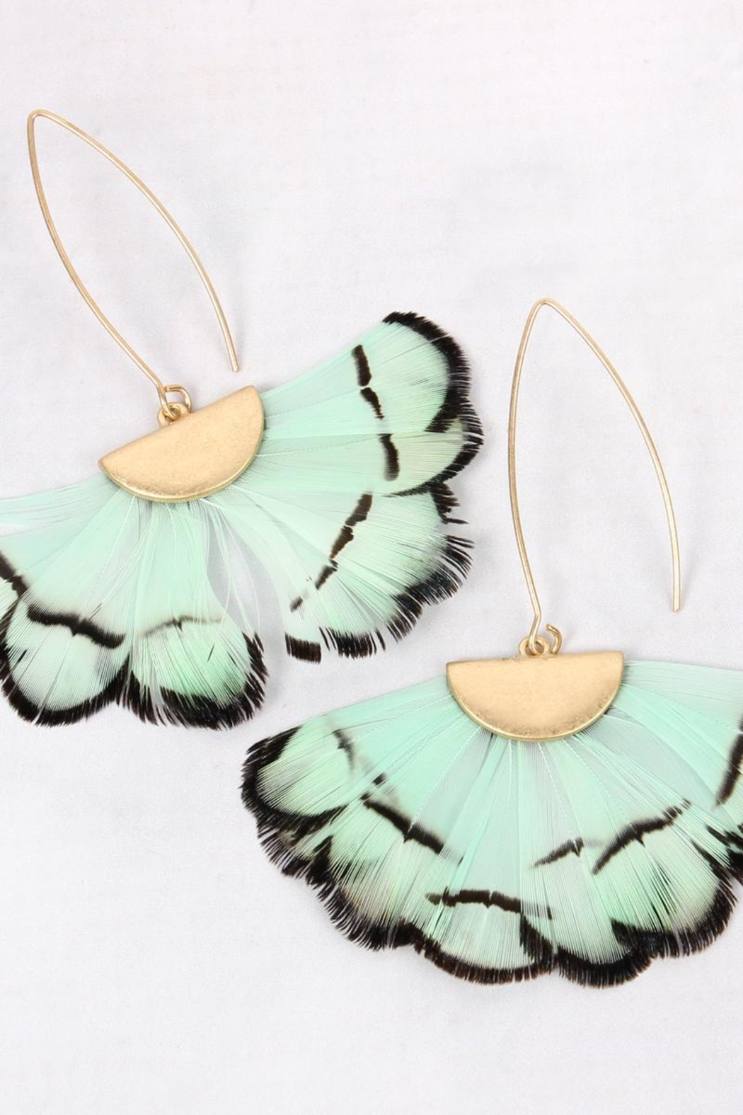 Riah Fashion Butterfly-Wings Threader Earrings - Side Cropped Image