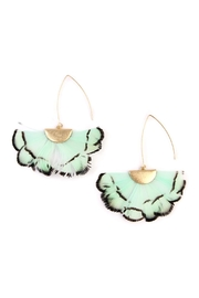 Riah Fashion Butterfly-Wings Threader Earrings - Front cropped