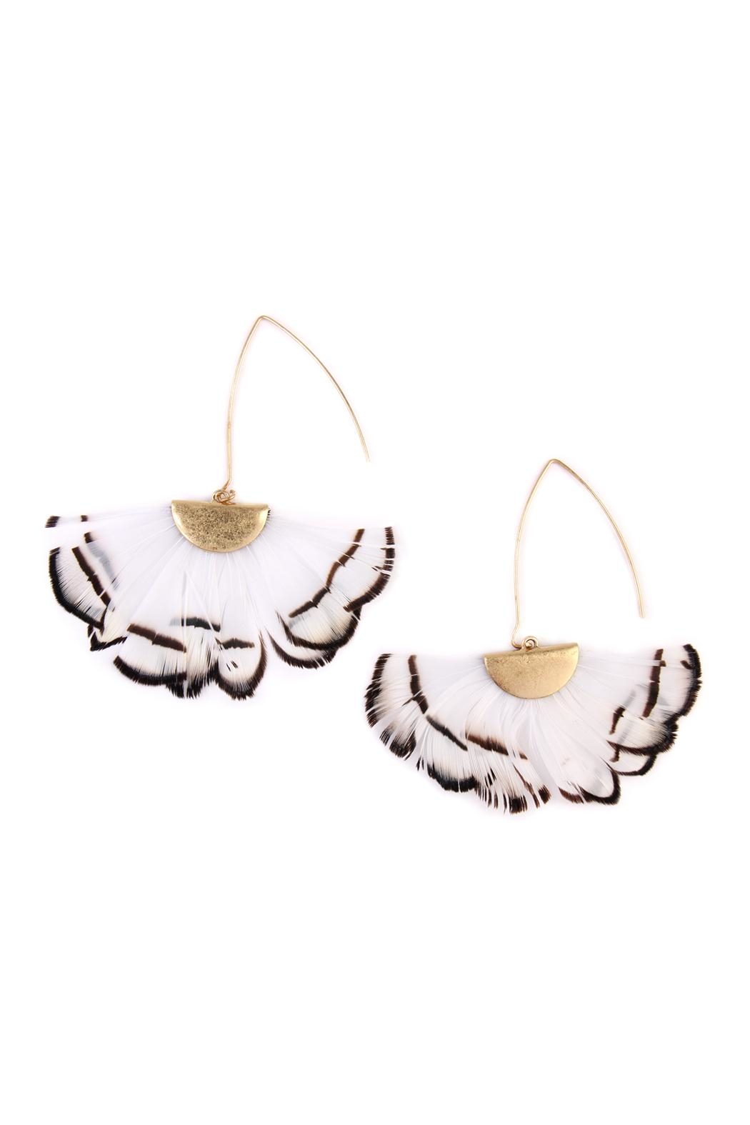 Riah Fashion Butterfly-Wings Threader Earrings - Front Cropped Image