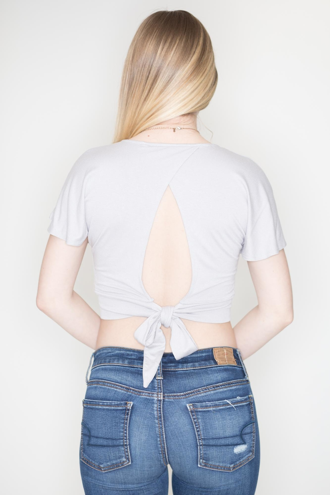 Double Zero Butterfly Wrap Top - Side Cropped Image