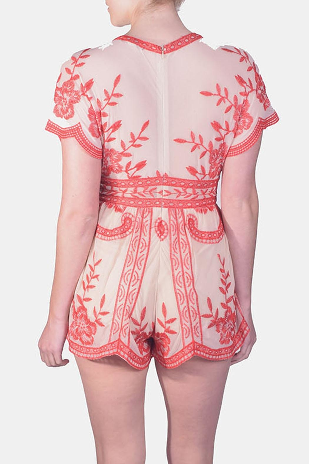 Honey Punch Butterly Lace Romper - Side Cropped Image