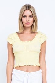 skylar madison Buttermilk Crop Top - Product Mini Image