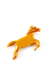 GHome2 Butterscotch Horse Brooch - Back cropped