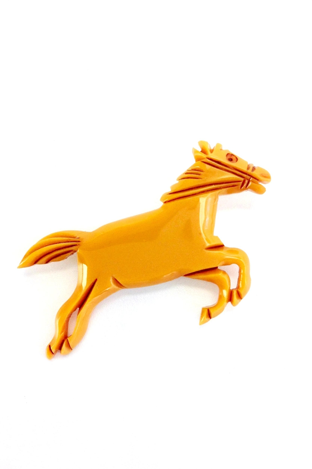 GHome2 Butterscotch Horse Brooch - Main Image
