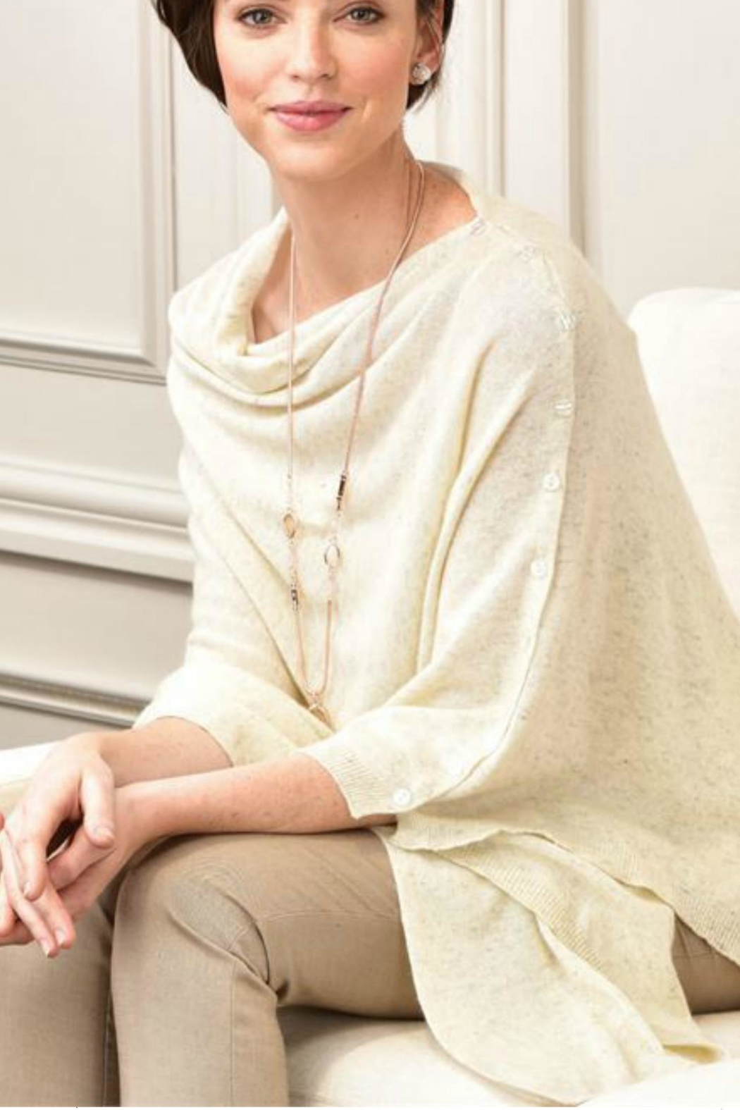Charlie Paige Button-Accent Poncho - Main Image