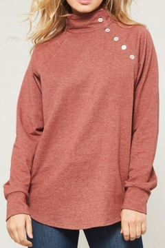 Promesa Button Accented Sweatshirt - Product List Image