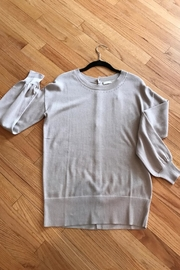 One Grey Day Button-Back  Crew Sweater - Product Mini Image