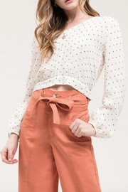 Blu Pepper Button-Back Polka-Dot Top - Front cropped