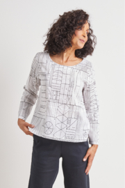 Habitat Abstract Button Back Pullover - Product Mini Image