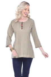 Parsley & Sage Button Back Top - Product Mini Image