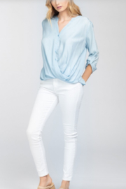 Everly Button Chambray Top - Product Mini Image