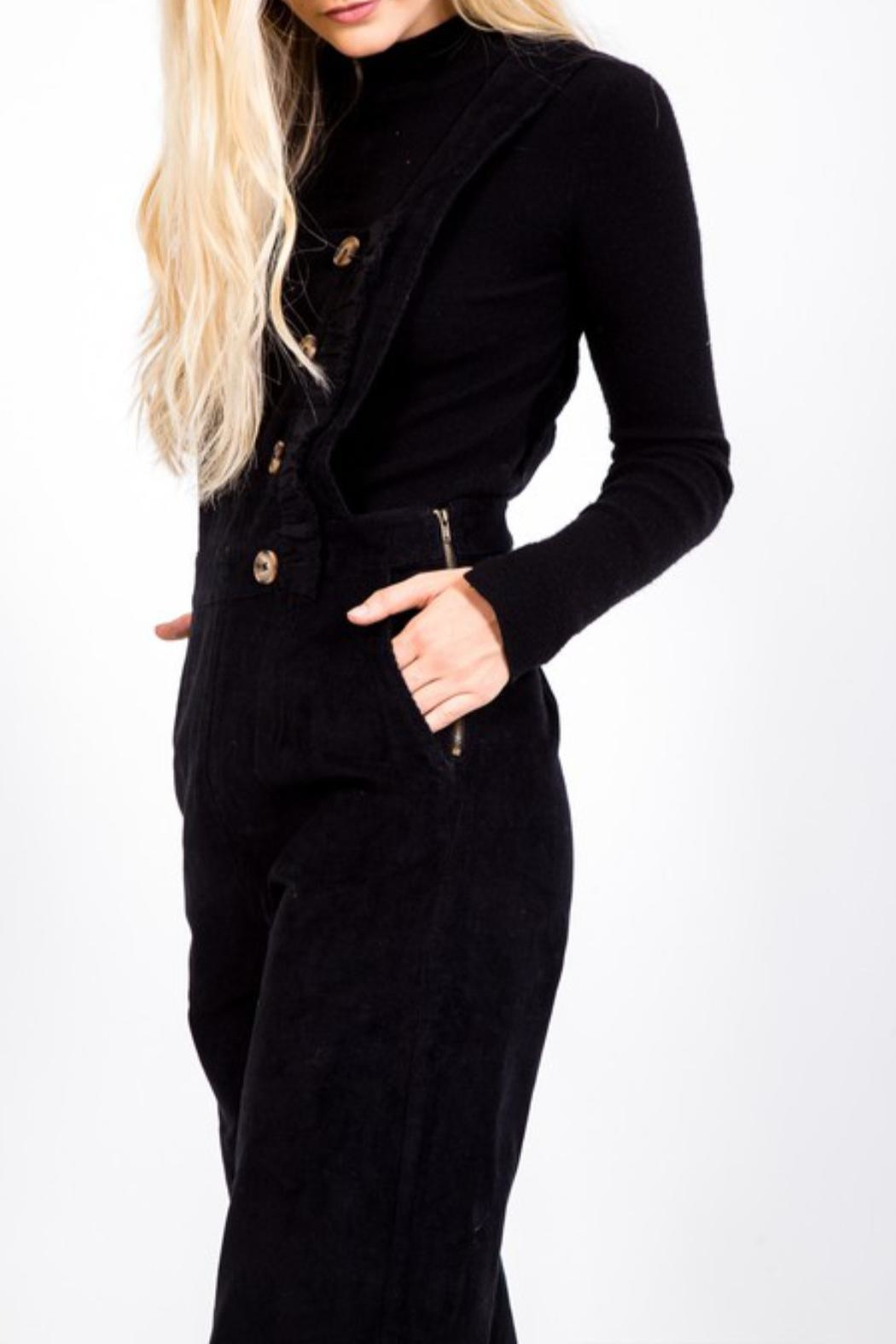 LoveRiche Button Corduroy Overall - Front Full Image